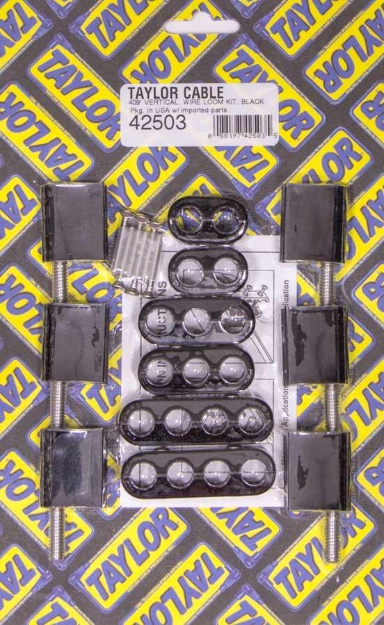 Taylor 10.4mm Vertical Wire Loom Kit  Black