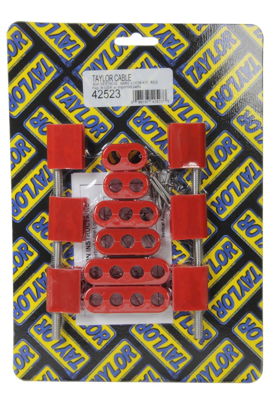 Taylor 10.4mm Vertical Wire Loom Kit Red