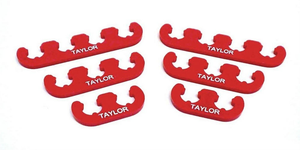 Taylor 42829 Spark Plug Wire Divider, 10.4 mm Wires, Nylon, Red, Clip Style, Kit