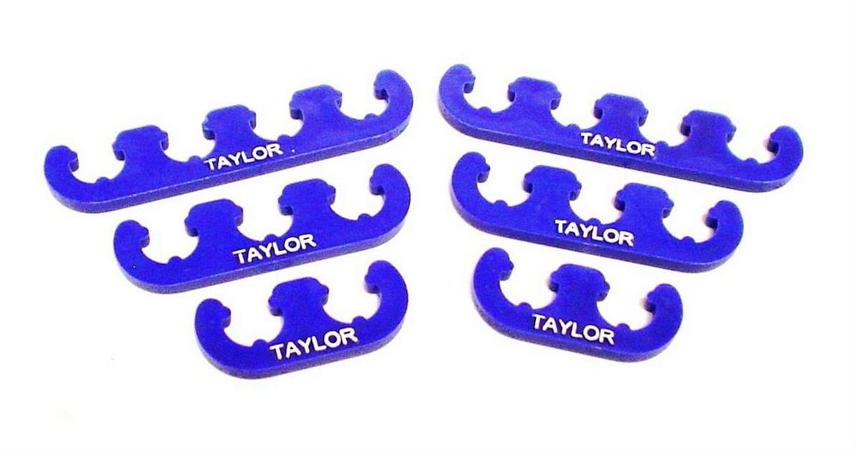 Taylor 42860 Spark Plug Wire Divider, 7-8 mm Wires, Nylon, Blue, Clip Style, Kit