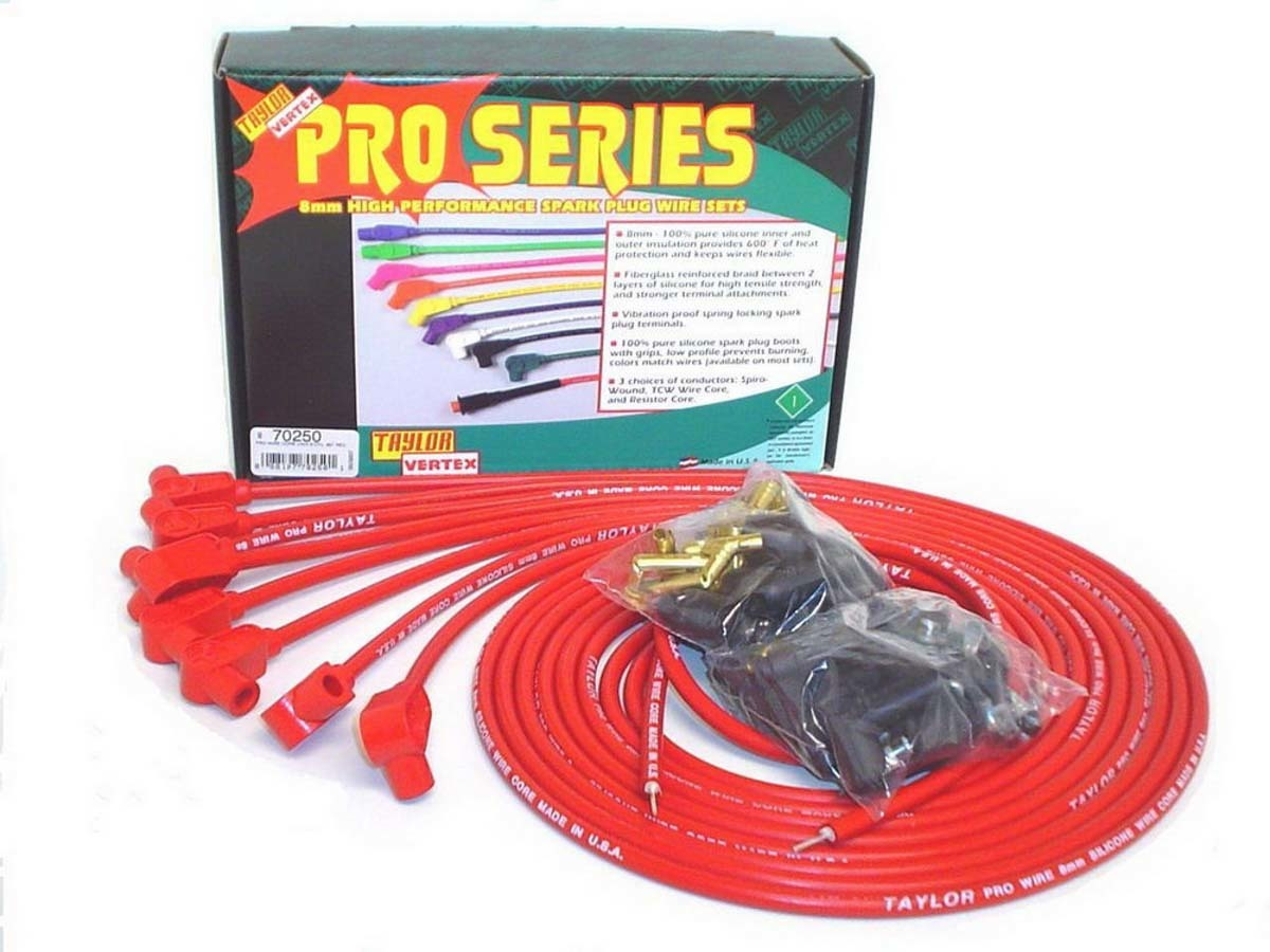 8mm Red Pro Wire 90 Dgr