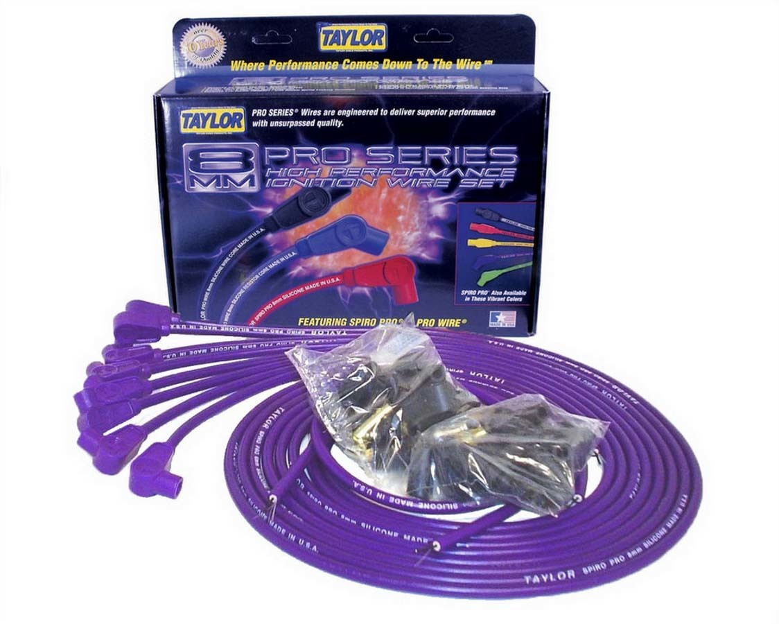 8mm 90 Deg. Purple Wire