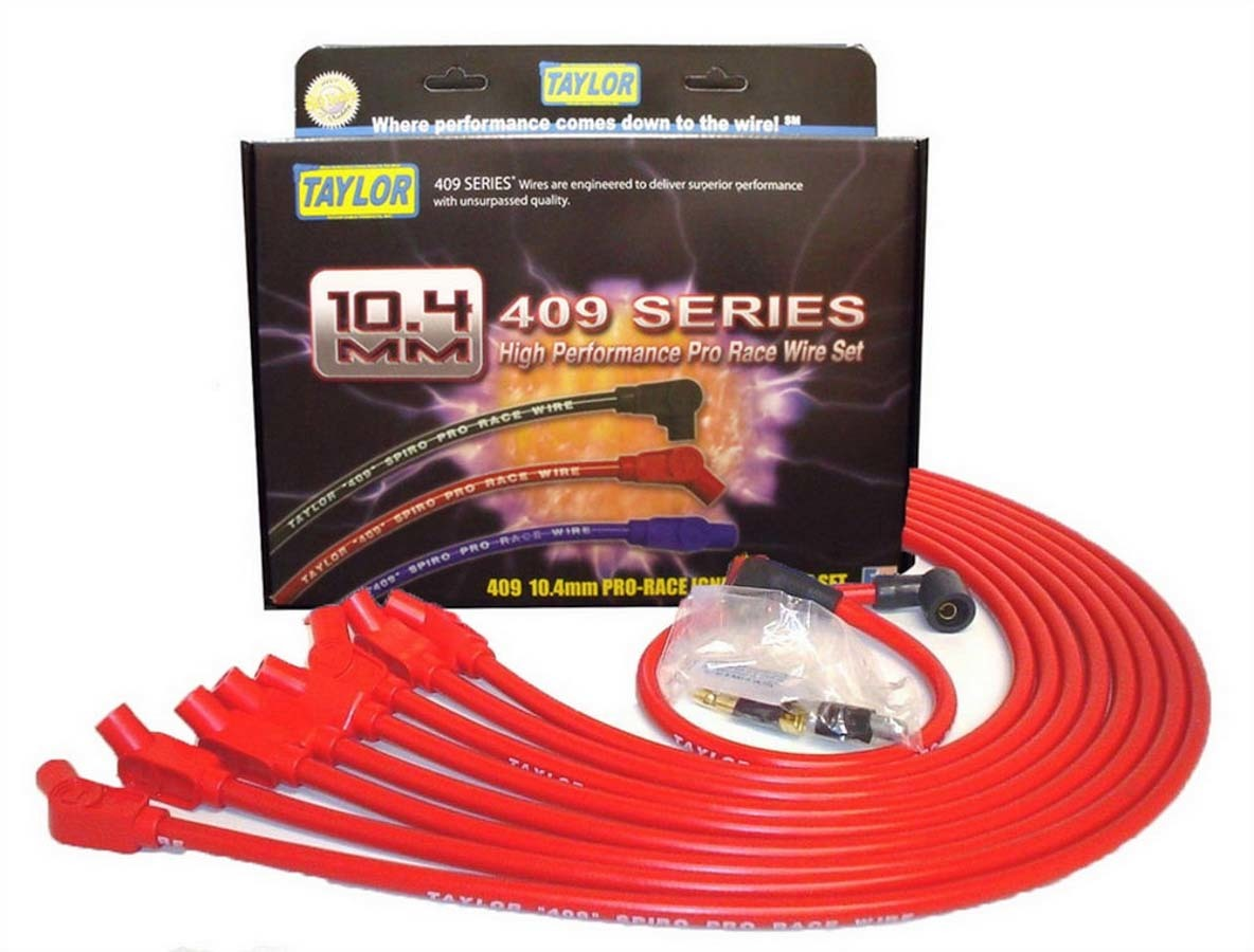Taylor 409 10.4mm Spiro-Pro Race Plug Wire Set - Red