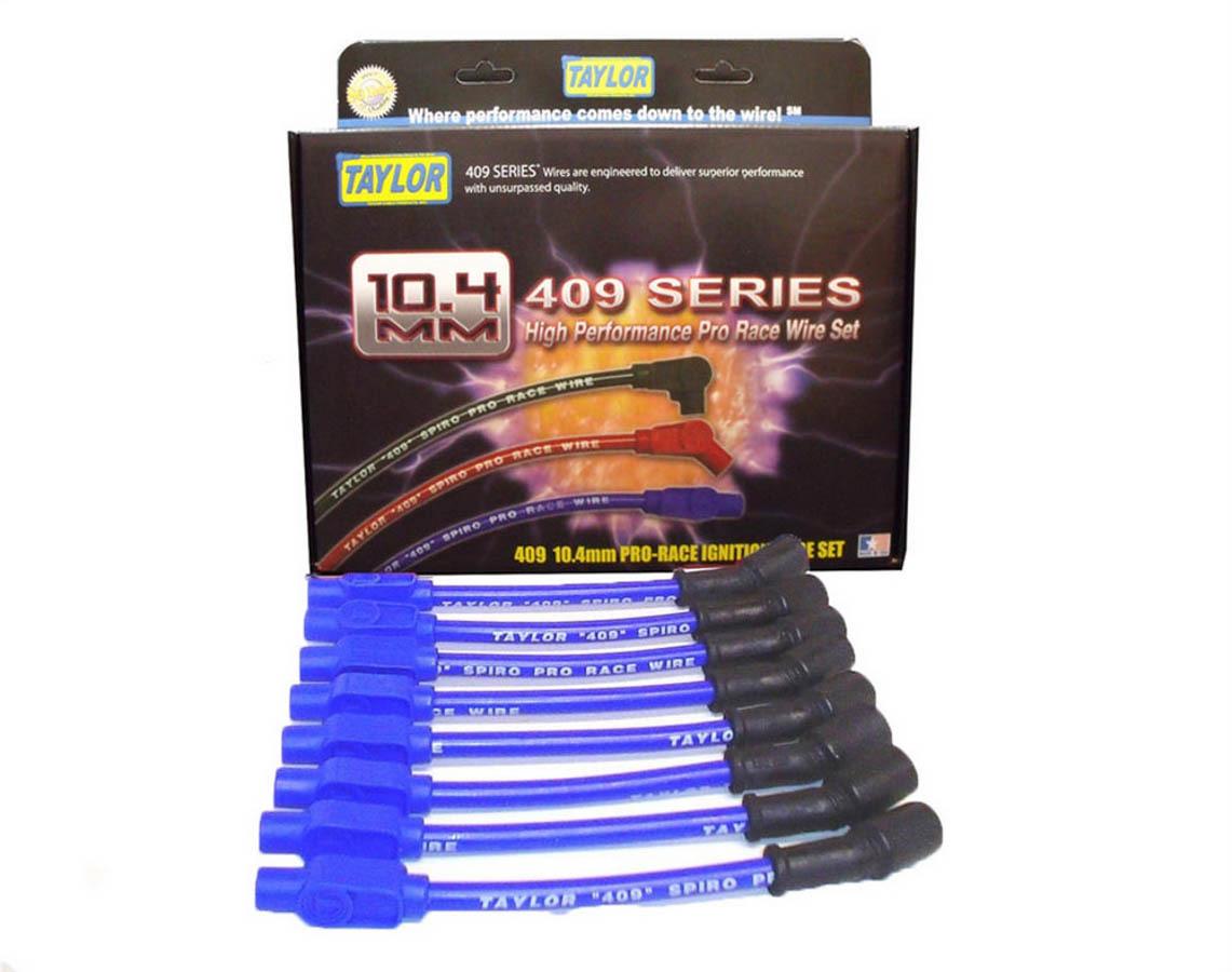 Taylor 10.4mm 409 Spark Plug Wire Set Blue