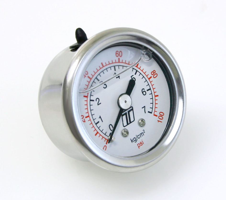 Fuel Pressure Gauge 0-100 PSI Liquid Filled