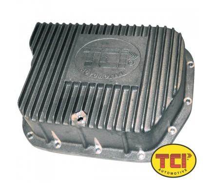 TCI 128001 Transmission Pan, Deep Sump, Adds 4.0 qt Capacity, Aluminum, Natural, Torqueflite 727 / 46RH / 48RE, Kit