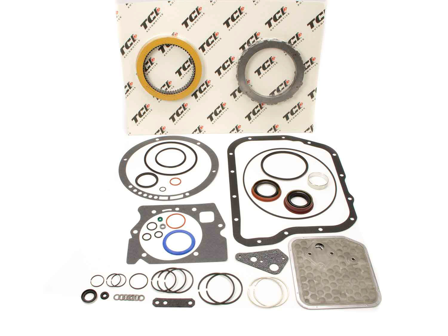 TCI 149300 Transmission Rebuild Kit, Automatic, Master Racing Overhaul, Clutches / Steels / Bands / Filter / Gaskets / Seals, Torqueflite 727, Kit