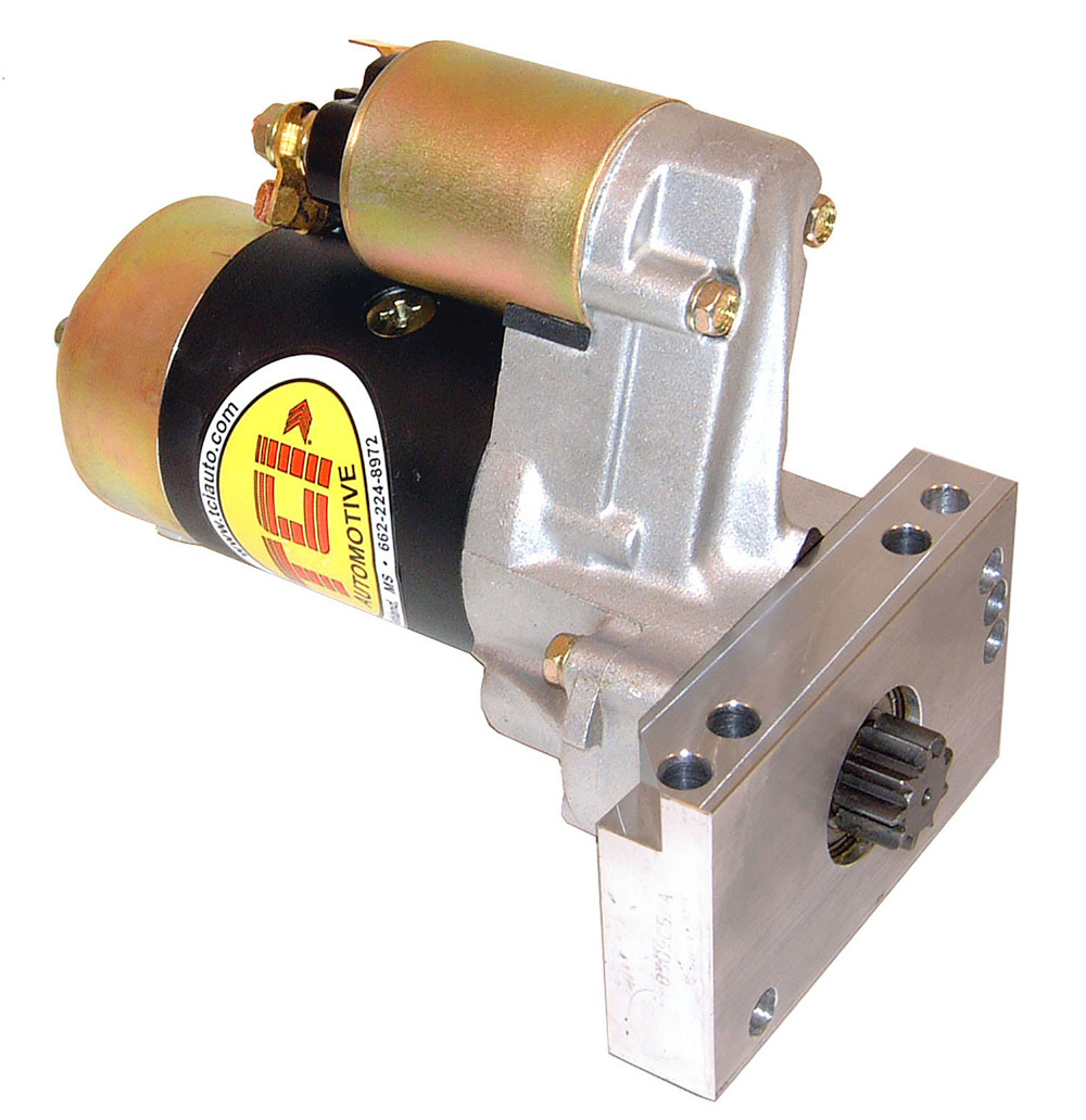 TCI 351109 Starter, Extreme Racing, 3.73:1 Gear Reduction, Black Paint, GM V8, Each