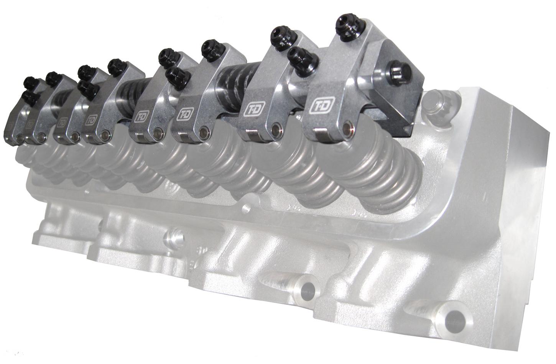 T&D Machine 7022 Rocker Arm, Shaft Mount, 1.80 Ratio, Full Roller, Aluminum, Natural, Edelbrock Heads, Big Block Ford, Kit
