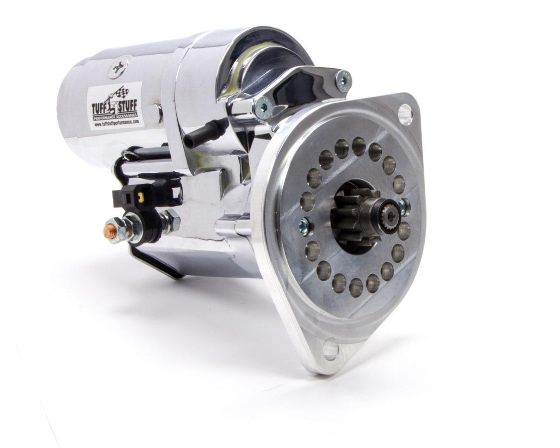 Tuff-Stuff 13124A Starter, Tuff Torque, Mini Starter, Gear Reduction, Chrome, Small Block Ford, Each