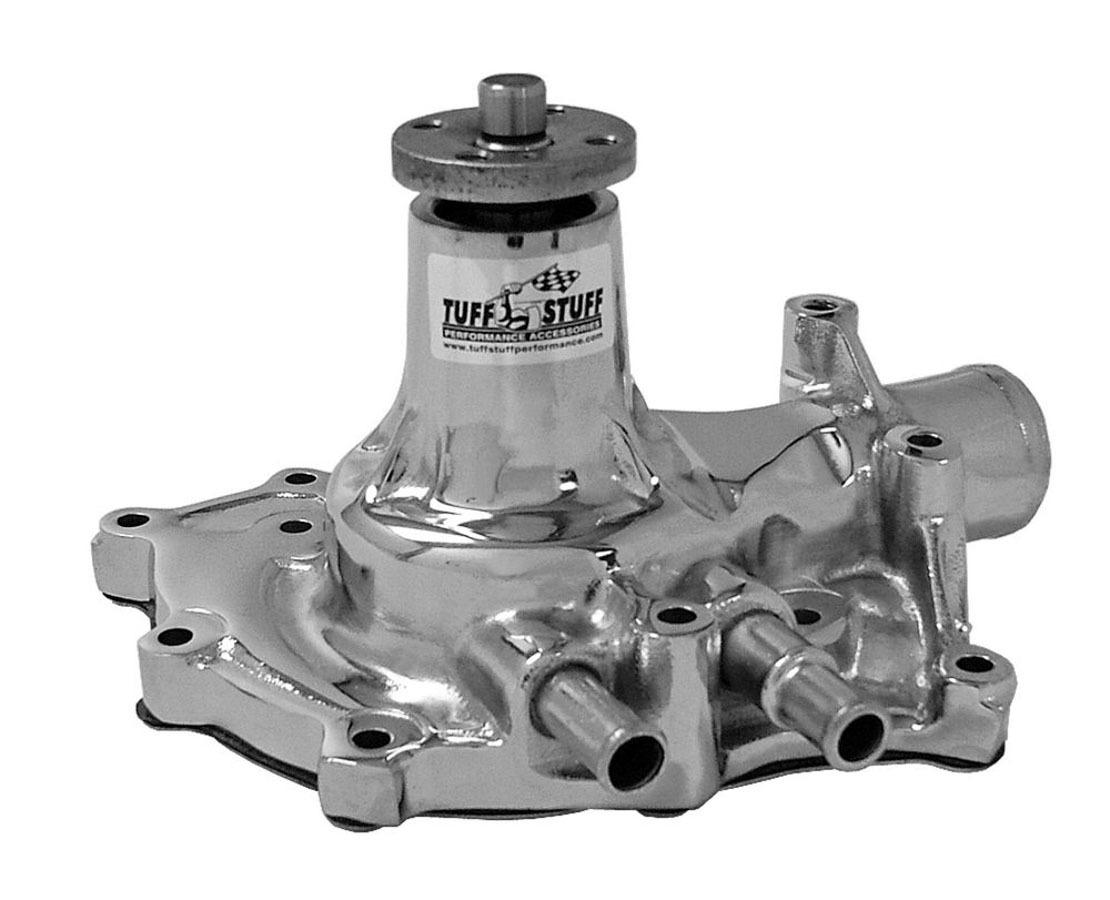 Tuff-Stuff 1432A Water Pump, Mechanical, Steel, Chrome, Small Block Ford, Each