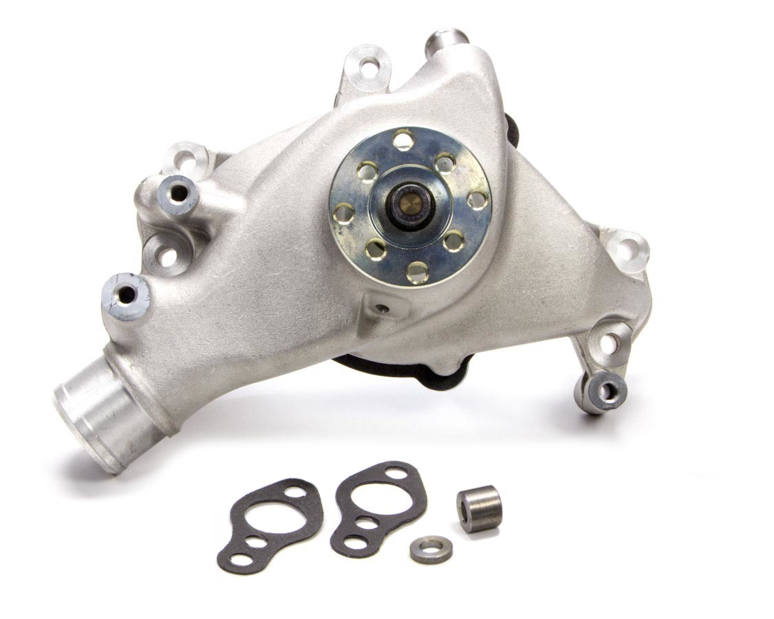 Tuff-Stuff 1448NC Water Pump, Mechanical, Supercool, High Volume, Long Design, Aluminum, Natural, Small Block Chevy, Each