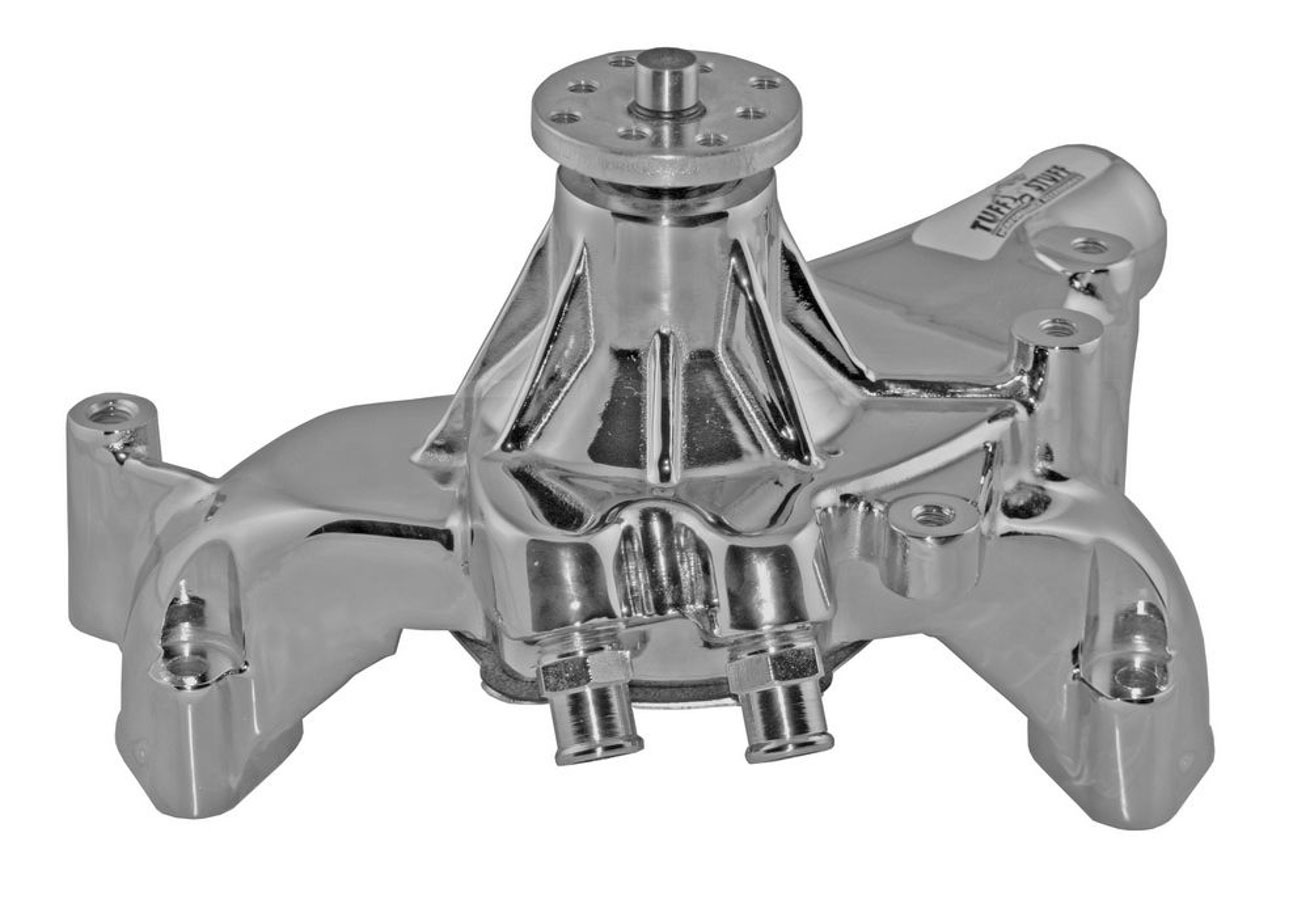 Tuff-Stuff 1461AB Water Pump, Mechanical, Platinum Series, High Volume, Long Design, Aluminum, Polished, Big Block Chevy, Each