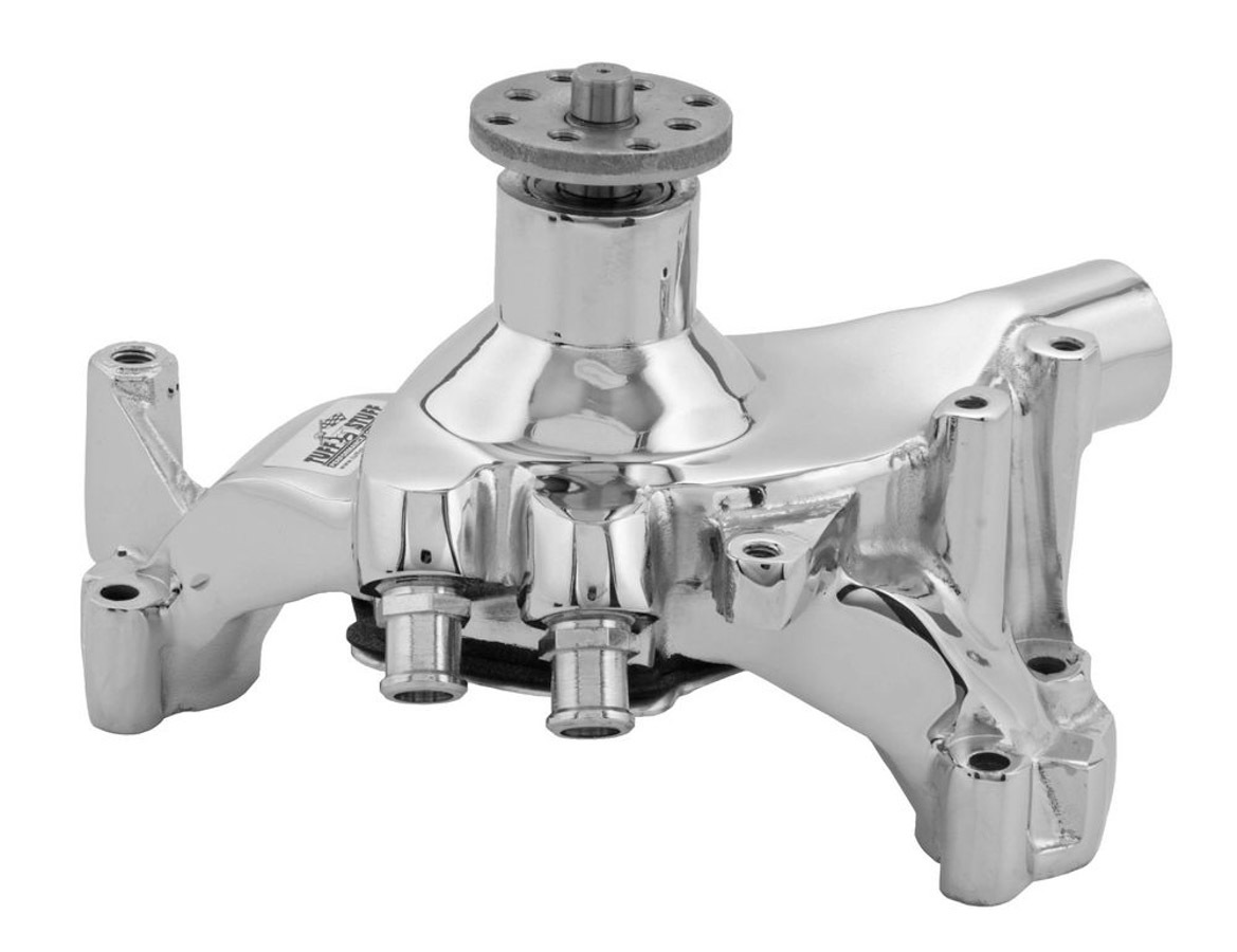 Tuff-Stuff 1461NA Water Pump, Mechanical, Long Design, Iron, Chrome, Big Block Chevy, Each