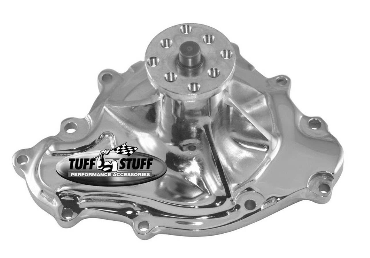 Tuff-Stuff 1475NA Water Pump, Mechanical, Iron, Chrome, Pontiac V8, Each