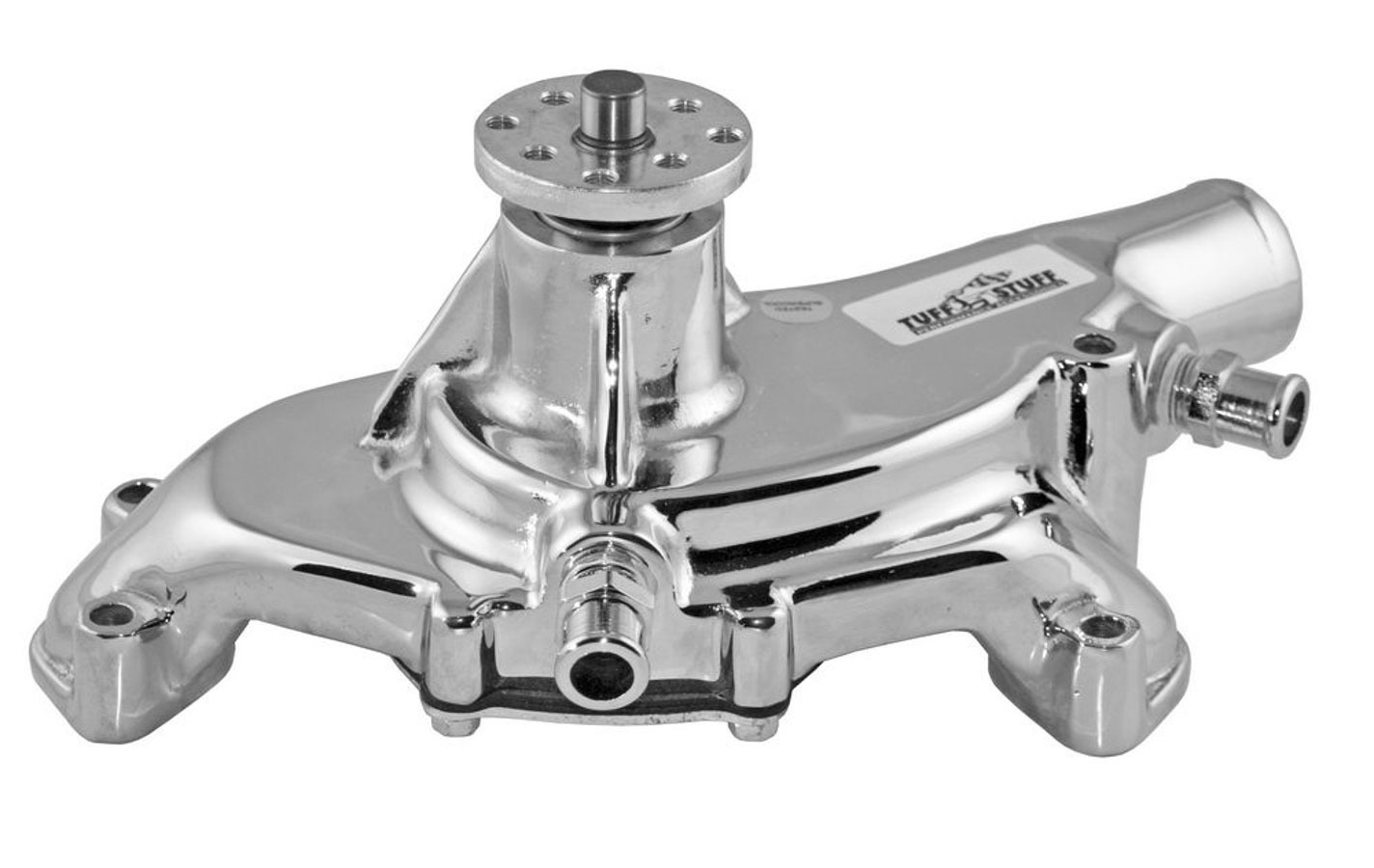 Tuff-Stuff 1495ABREV Water Pump, Mechanical, Platinum Series, High Volume, Reverse Rotation, Short Design, Aluminum, Polished, Big Block Chevy, Each