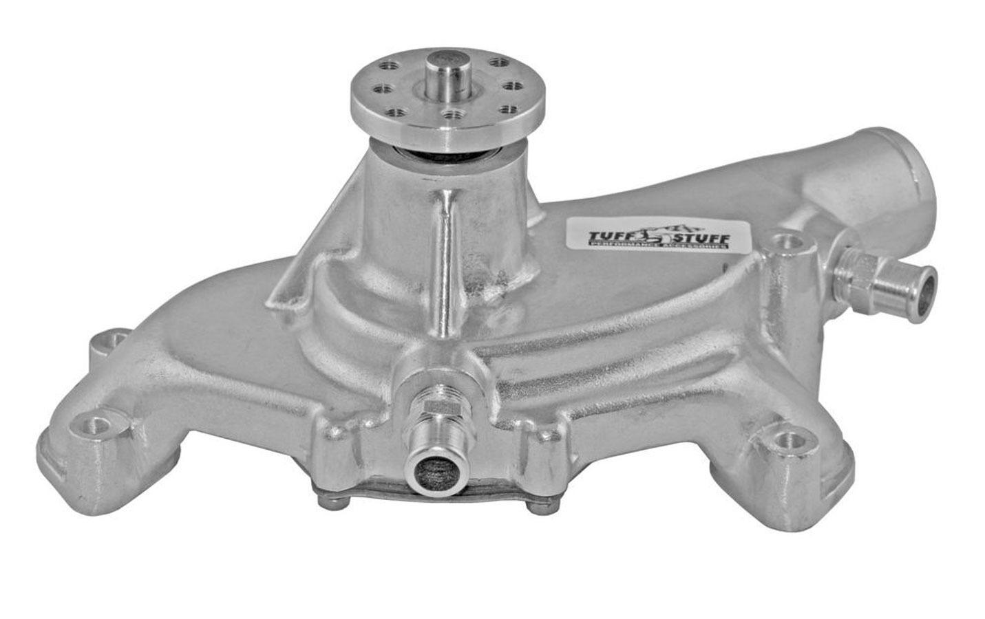 Tuff-Stuff 1495AC Water Pump, Mechanical, Platinum Series, High Volume, Short Design, Aluminum, Natural, Big Block Chevy, Each