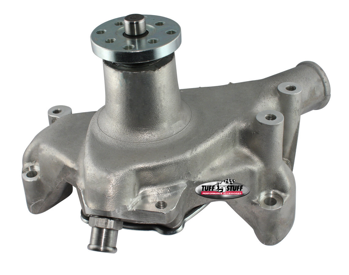 Tuff-Stuff 1511NC Water Pump, Mechanical, Platinum Series, High Volume, Long Design, Aluminum, Natural, Small Block Chevy, Each