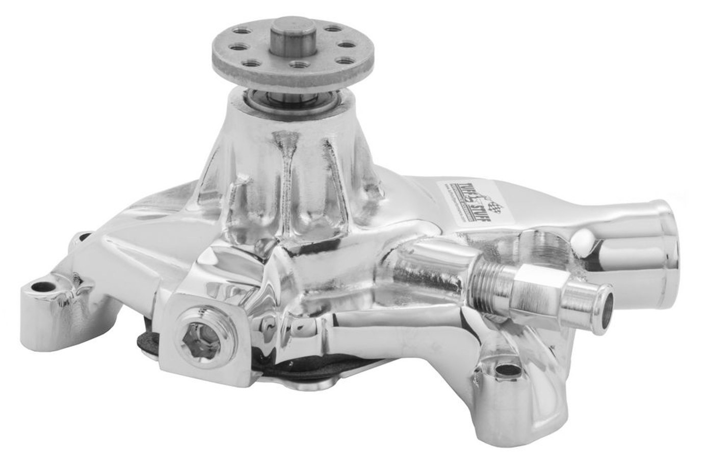 Tuff-Stuff 1534NA Water Pump, Mechanical, Iron, Chrome, Small Block Chevy, Each