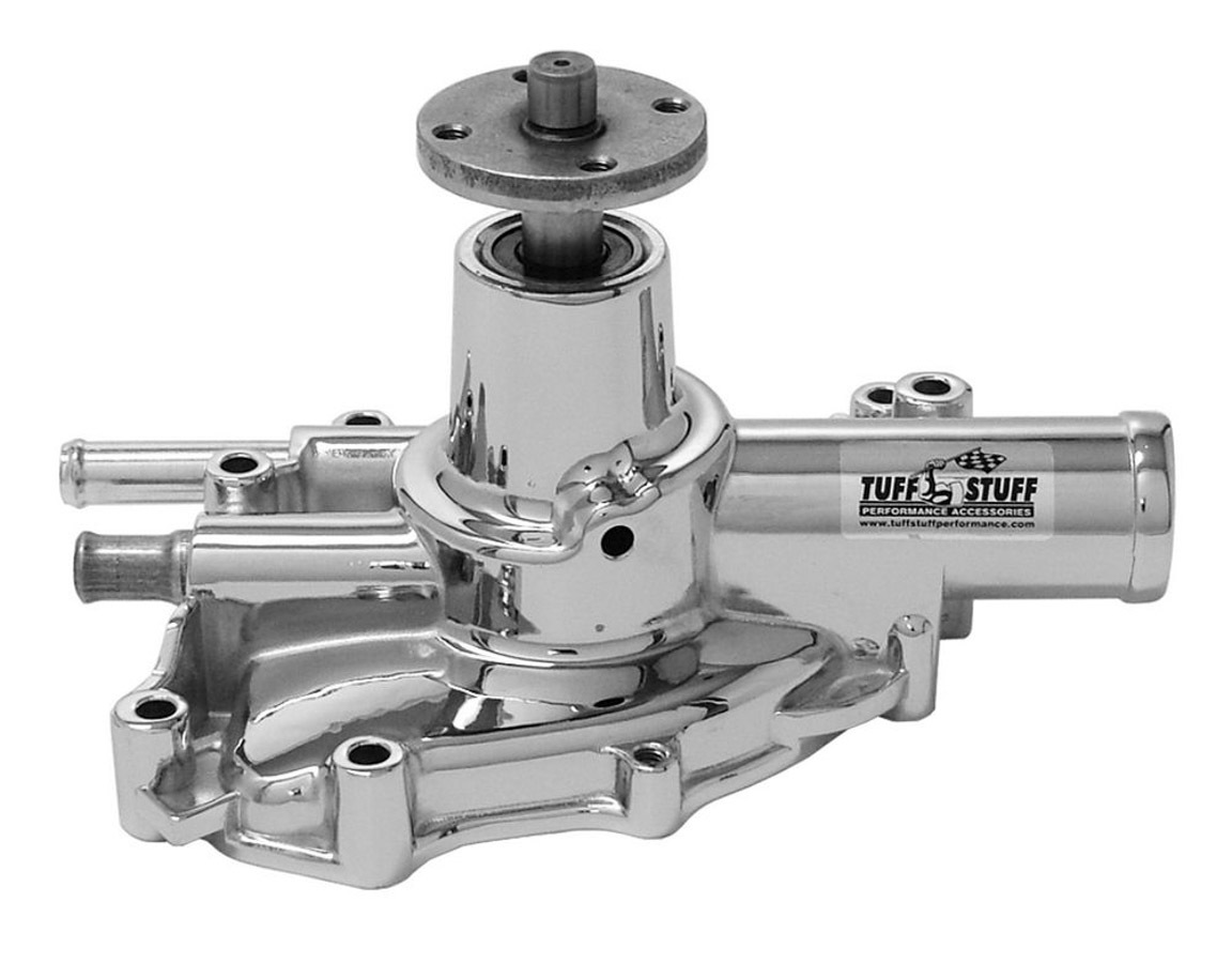 Tuff-Stuff 1625NG Water Pump, Mechanical, Platinum Series, High Volume, Shorty, Aluminum, Chrome, Small Block Ford, Each