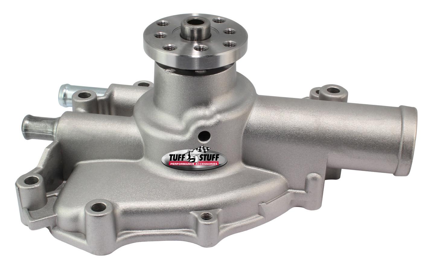 Tuff-Stuff 1625NJ Water Pump, Mechanical, Platinum Series, High Volume, Shorty, Aluminum, Natural, Small Block Ford, Each