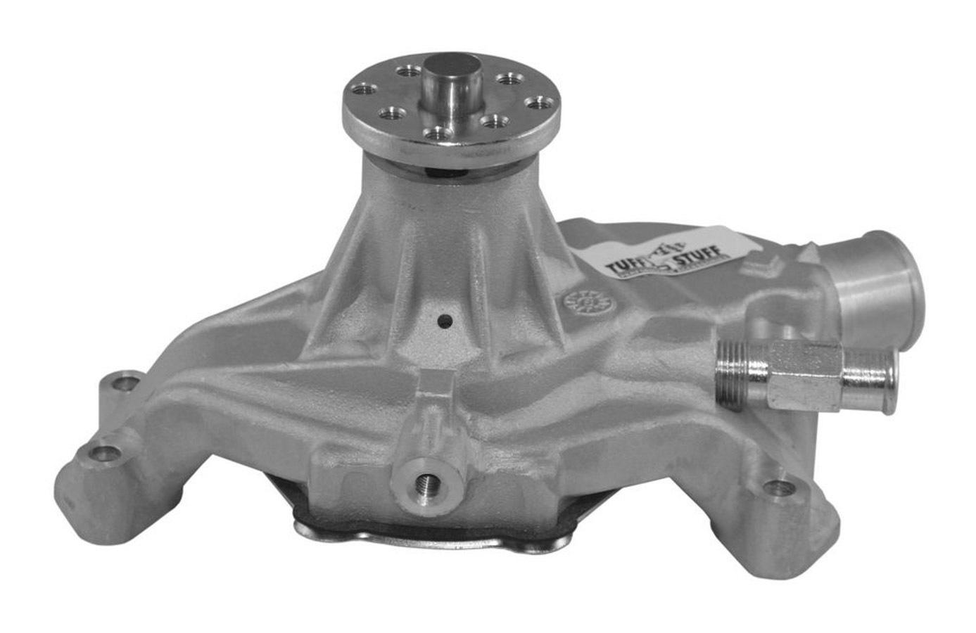 Tuff-Stuff 1635E Water Pump, Mechanical, Economy, Short Design, Aluminum, Natural, Small Block Chevy, Each