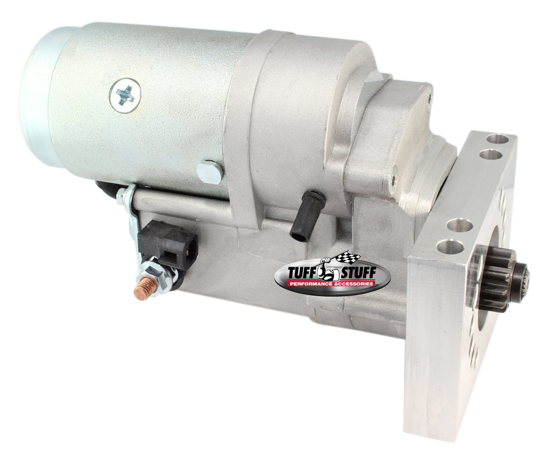 Tuff-Stuff 3193NB Starter, Tuff Torque, Denso Style, 6 Position Mounting Block, Hardware / Shims Included, Zinc Plated, 153 / 168 Tooth Flywheel, Chevy V6 / V8, Each