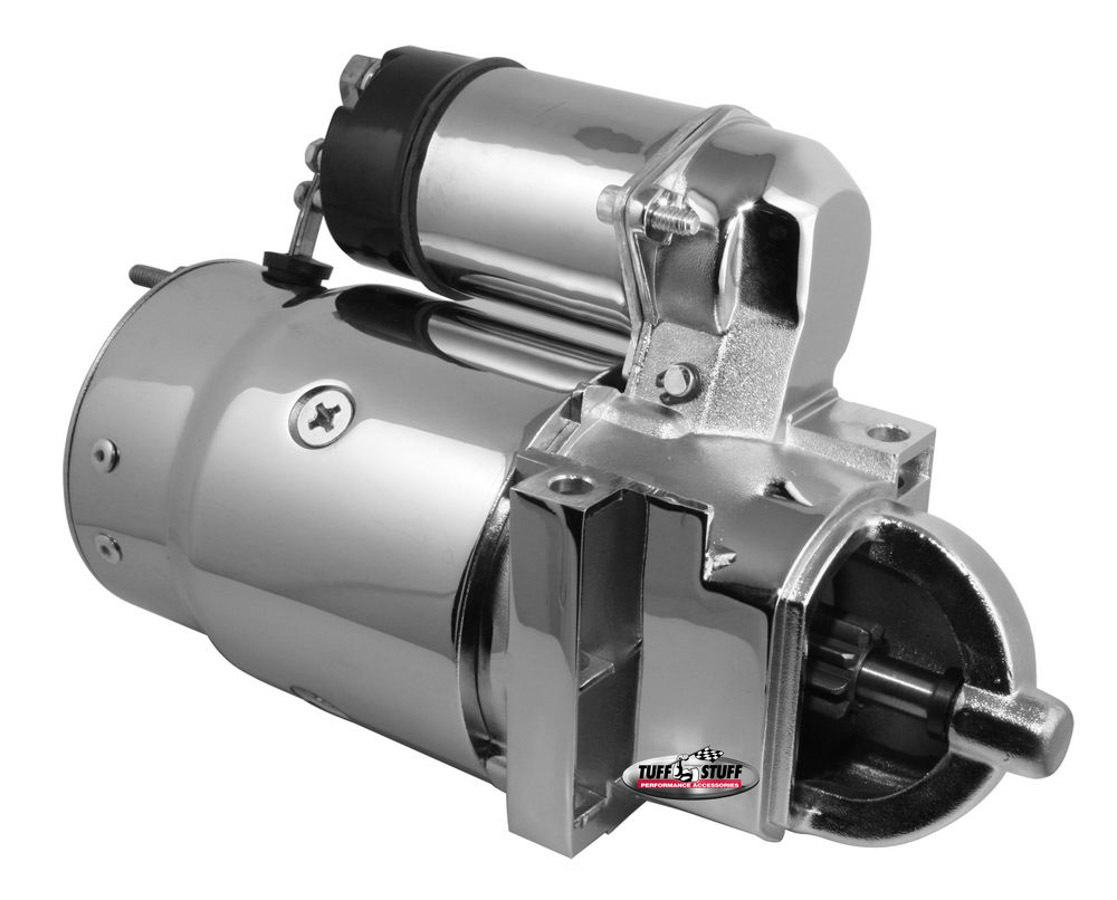 Tuff-Stuff 3510AC Starter, Super Torque, Denso Style, Hardware / Shims Included, Chrome, 168 Tooth Flywheel, Chevy V6 / V8, Each