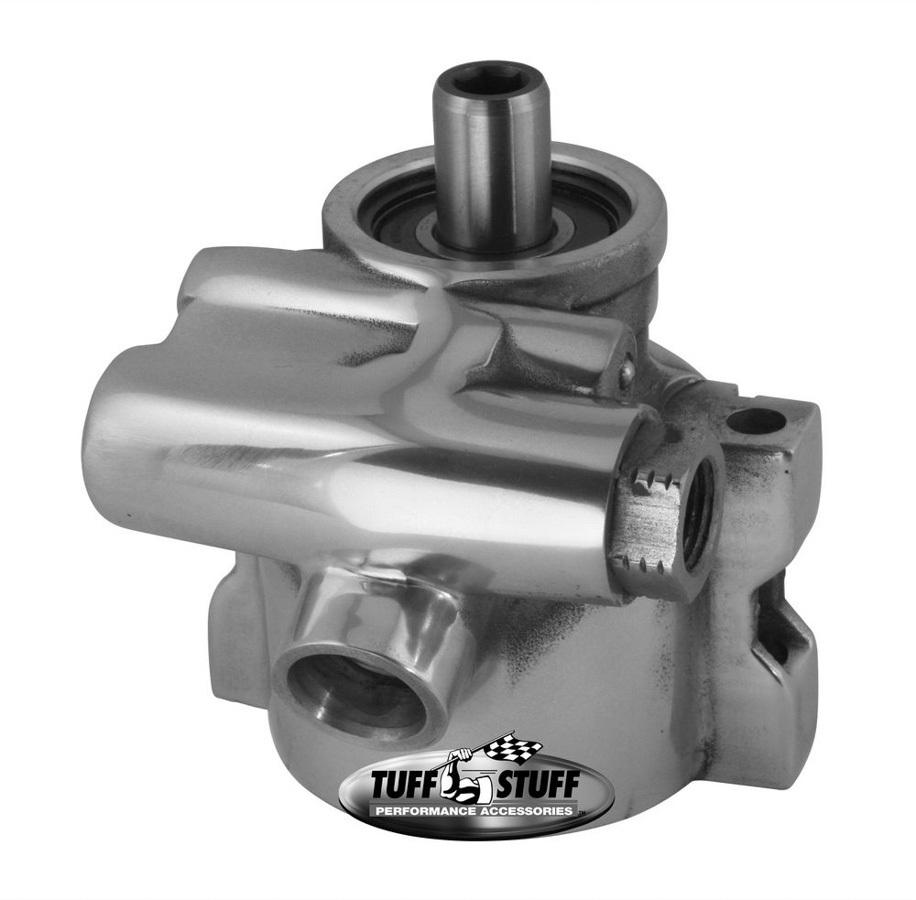 Tuff Stuff 6175ALP-6 Power Steering Pump, GM Type 2, 3 gpm, 1200 psi, Aluminum, Polished, GM LS-Series, GM F-Body 1998-2002, Each
