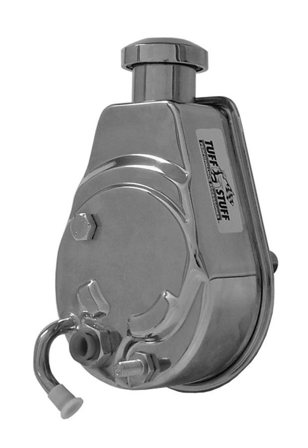 Tuff-Stuff 6182A Power Steering Pump, Saginaw, 3 gpm, 1200 psi, Steel, Chrome, GM G-Body 1980-88, Each