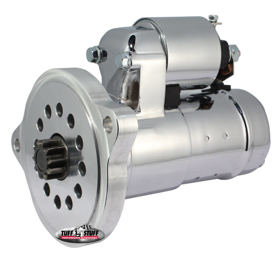Tuff-Stuff 6551A Starter, 1.6KW, Gear Reduction, Steel, Chrome, Small Block Ford / Cleveland, Each