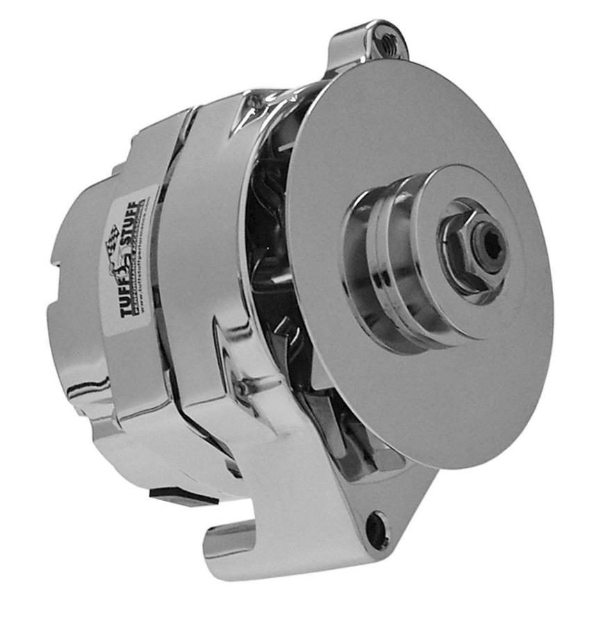 Tuff-Stuff 7068RD Alternator, 100 amp, 12V, 1-Wire, Single V-Belt Pulley, Chrome, Ford, Each
