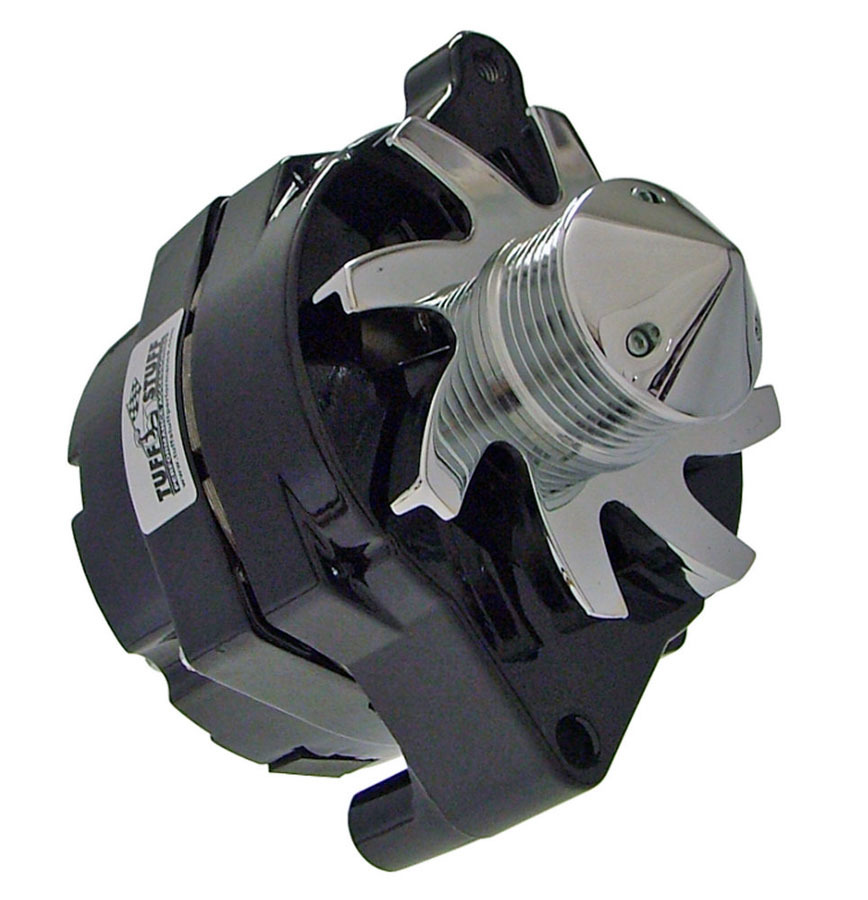 Tuff-Stuff 7069FBULL6G Alternator, 140 amp, 12V, 1-Wire, 6 Rib Serpentine Bullet Nose Pulley, Black Powder Coat, Ford, Each