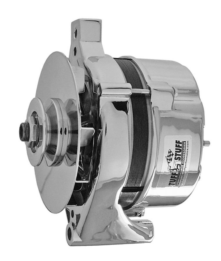 Tuff-Stuff 7078ND Alternator, 100 amp, 12V, Single V-Belt Pulley, Chrome, 1-Wire, Ford, Each