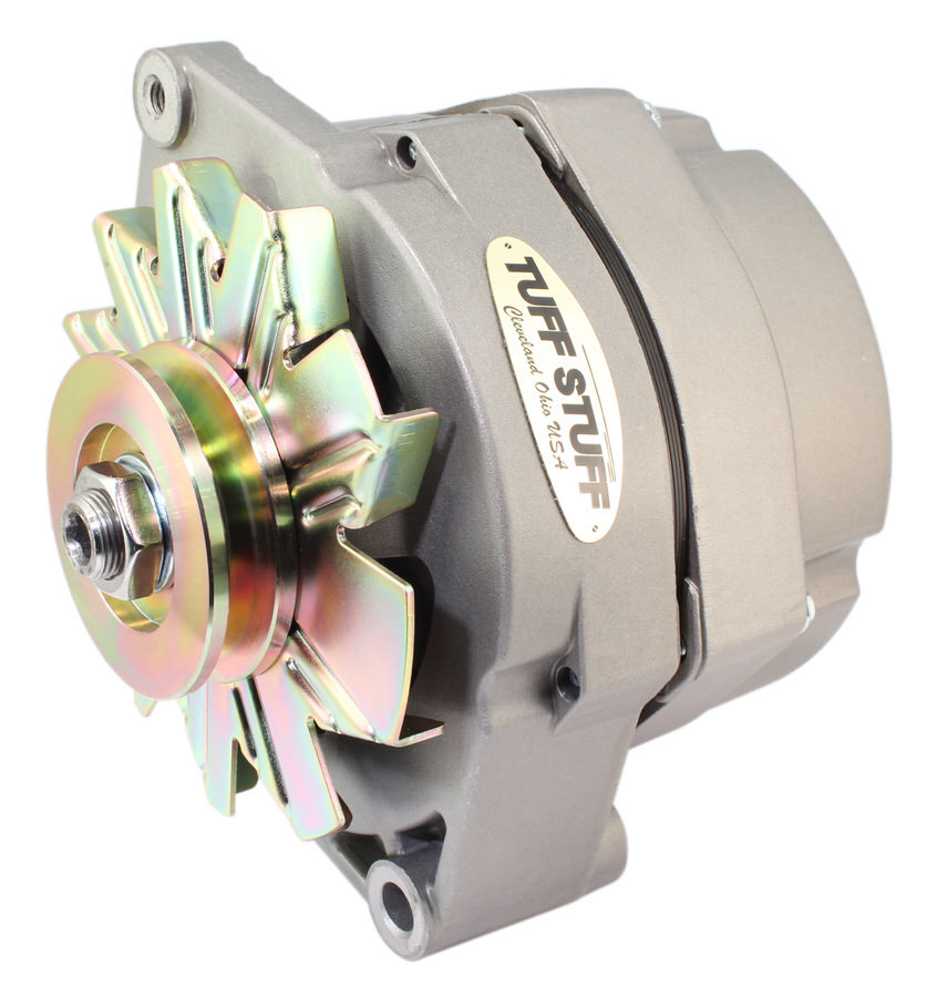 Tuff-Stuff 7127D12 Alternator, 100 amp, 12V, OEM / 1-Wire, Internal Regulator, Single V-Belt Pulley, Natural, GM, Each