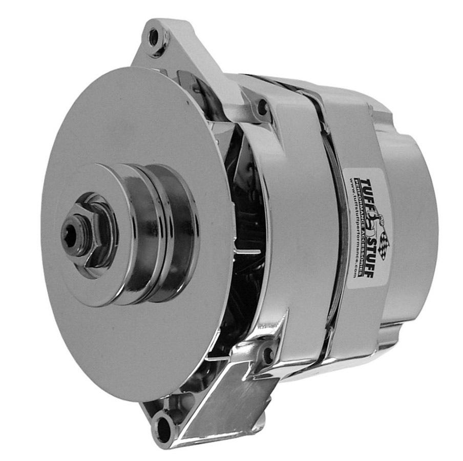 Tuff-Stuff 7127ND Alternator, 100 amp, 12V, OEM / 1-Wire, Single V-Belt Pulley, Chrome, GM, Each