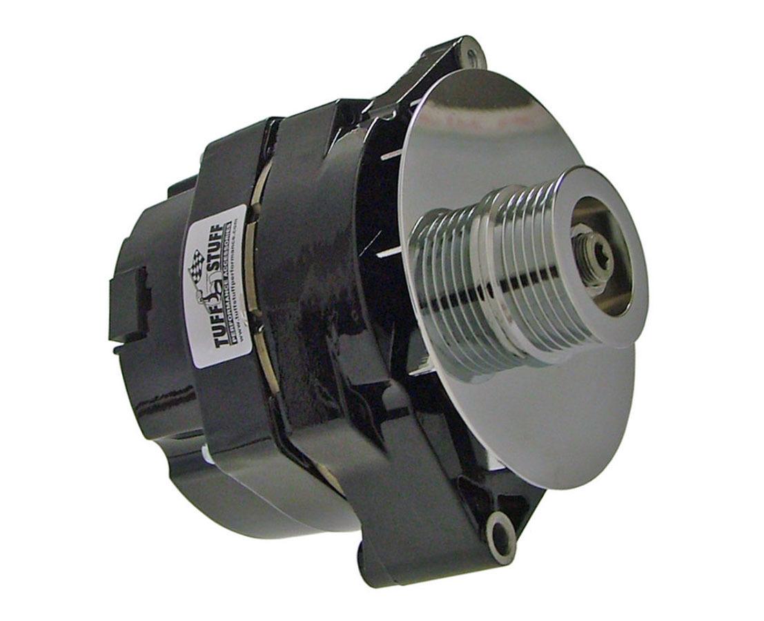 Tuff-Stuff 7127NF6G Alternator, 100 amp, 12V, OEM / 1-Wire, 6 Rib Serpentine Pulley, Black Powder Coat, GM, Each