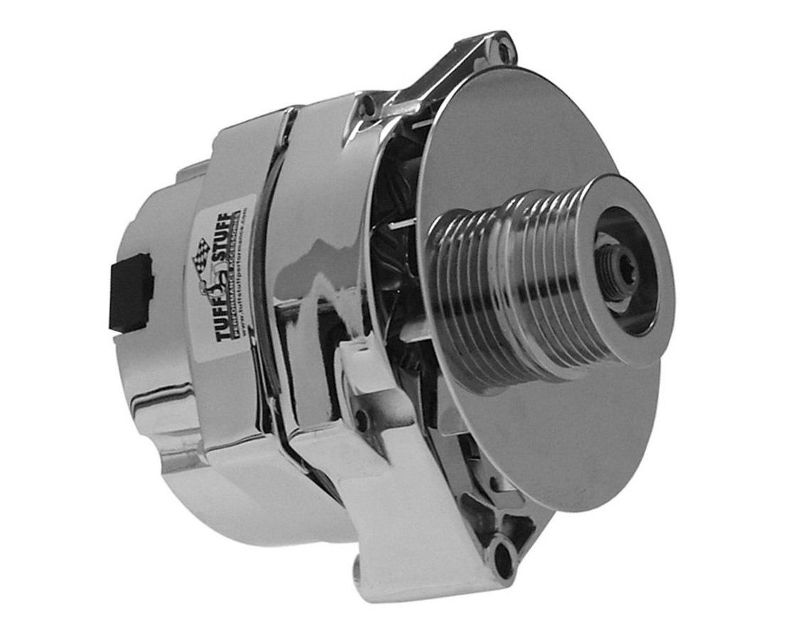 Tuff-Stuff 7127NK6G Alternator, 140 amp, 12V, OEM / 1-Wire, 6 Rib Serpentine Pulley, Chrome, GM, Each