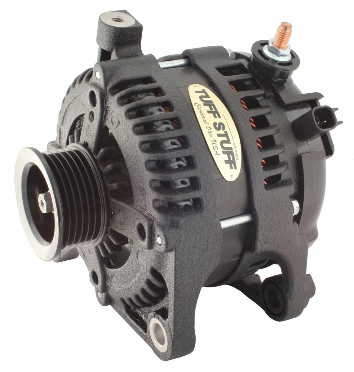 Tuff-Stuff 7513B Alternator, 175 amp, 12V, External Regulator, 6 Rib Serpentine Pulley, Black Wrinkle, Jeep Wrangler JK 2007-11, Each