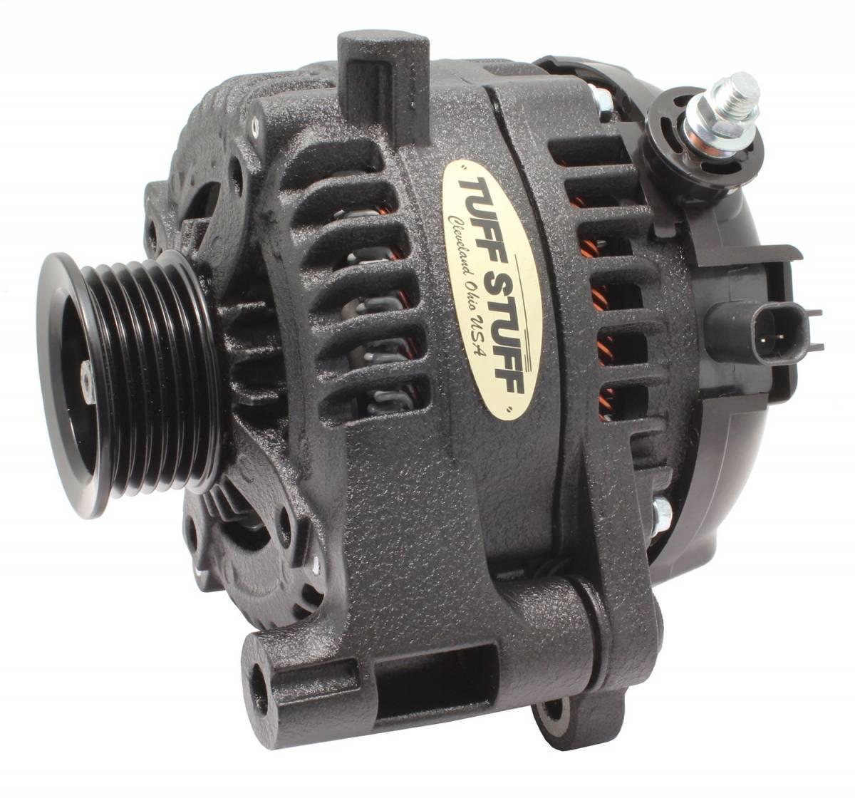 Tuff-Stuff 7514B Alternator, 175 amp, 12V, External Regulator, 6 Rib Serpentine Pulley, Black Wrinkle, Jeep Wrangler JK 2012-18, Each