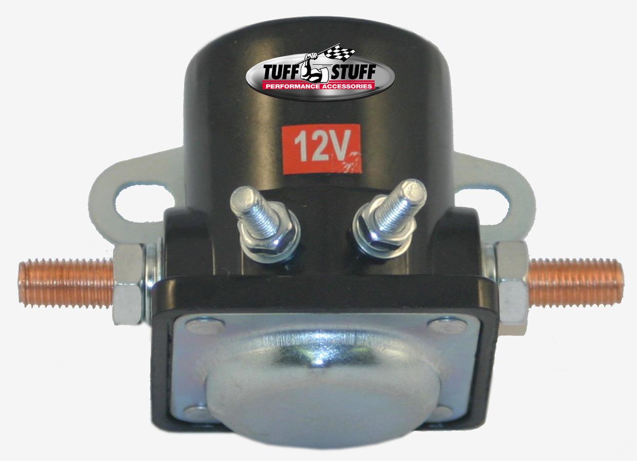 Tuff-Stuff 7629-1 Starter Solenoid, Hot Start, Remote, Black, GM Fullsize Starters, Each