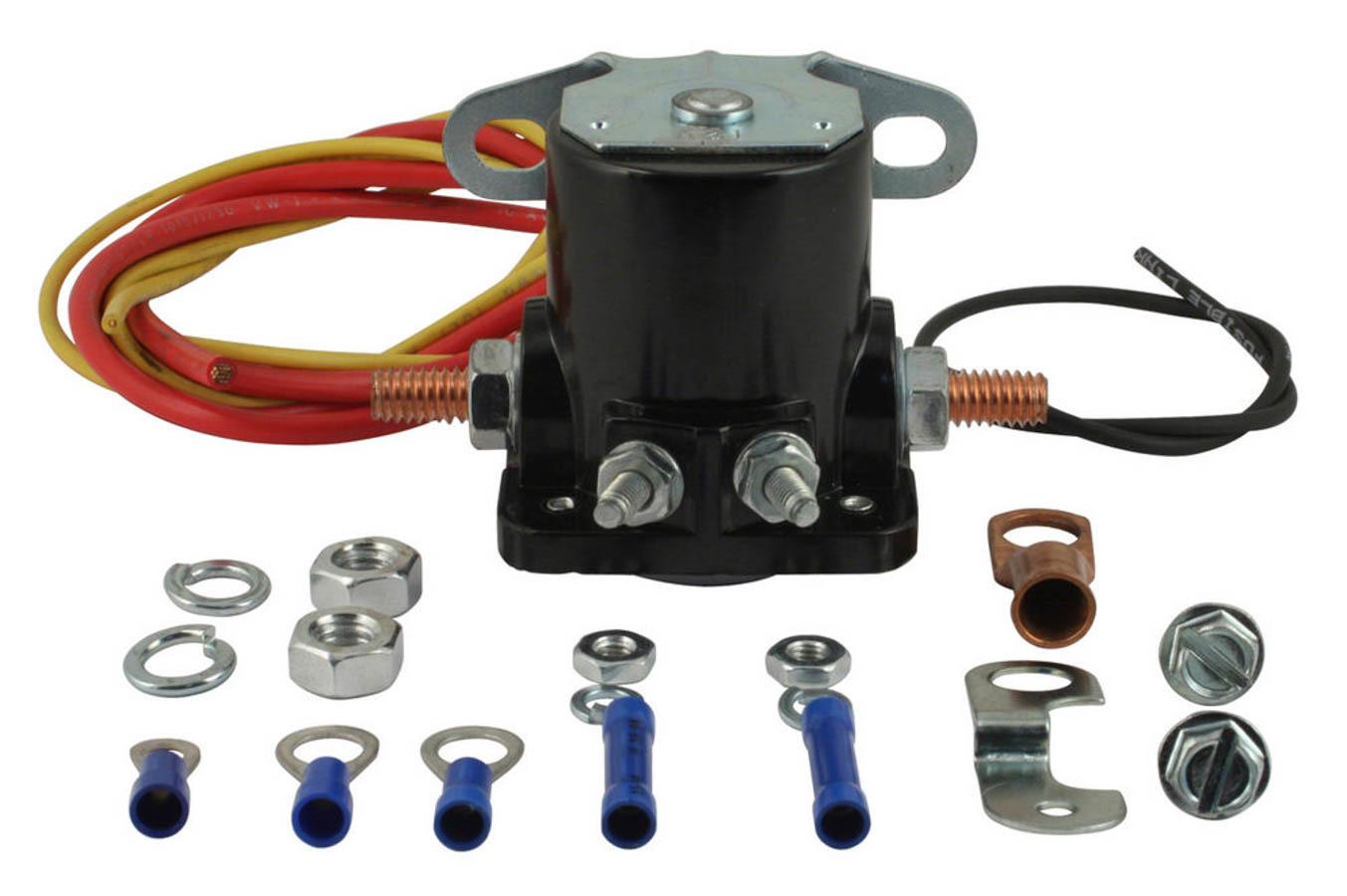 Tuff-Stuff 7629 Starter Solenoid, Hot Start, Remote, Terminals / Wiring Included, Black, GM Fullsize Starters, Kit