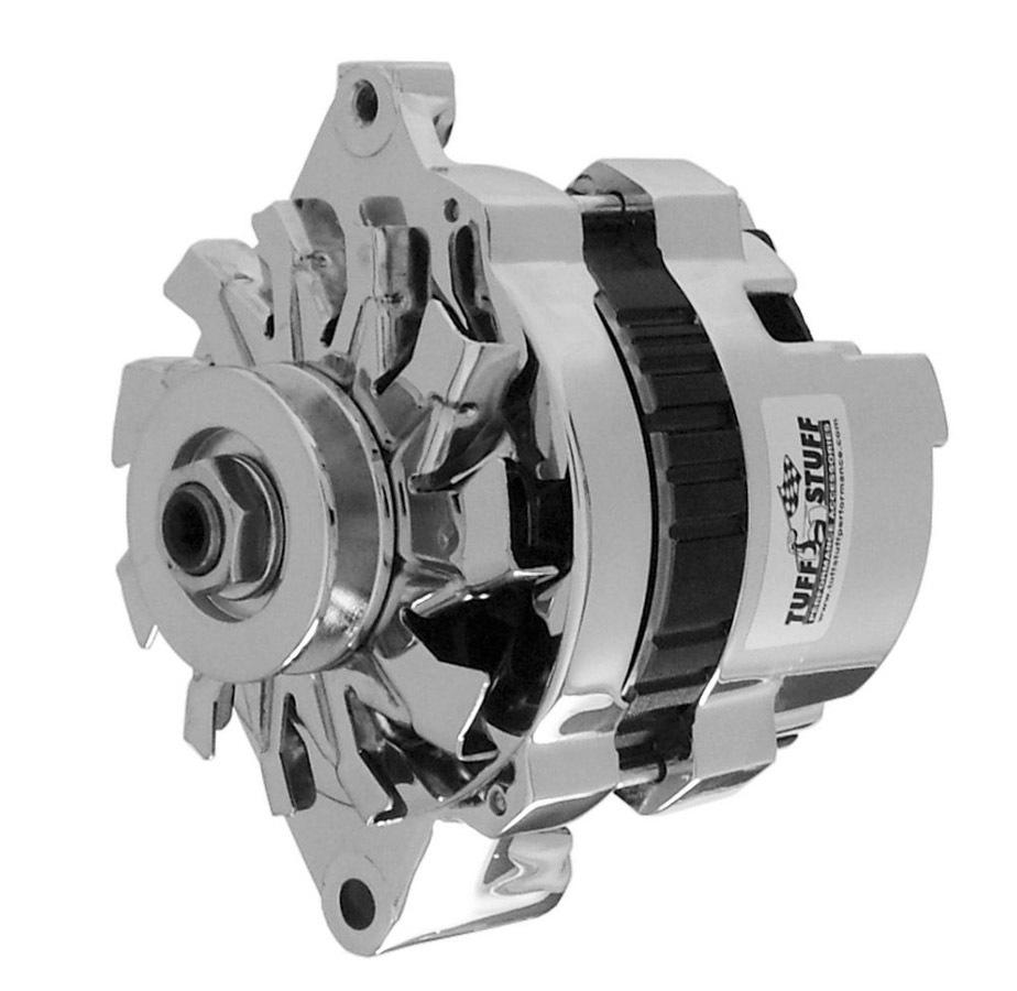 Tuff-Stuff 7937A Alternator, Mini Racer, 120 amp, 12V, OEM / 1-Wire, Single V-Belt Pulley, Chrome, GM, Each