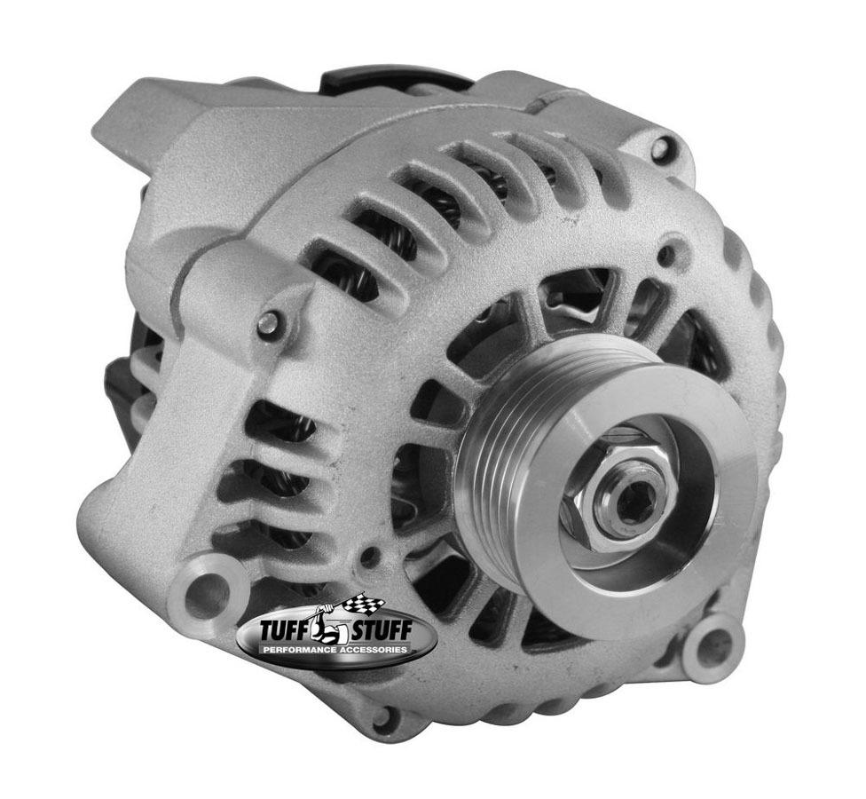 Tuff-Stuff 8242 Alternator, 125 amp, 12V, OEM / 1-Wire, Internal Regulator, 6 Rib Serpentine Pulley, Natural, GM, Each