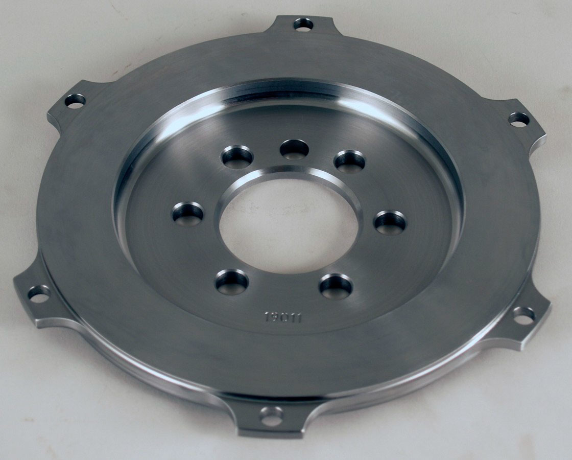 Tilton 19011 Flywheel, Button Style, 3.8 lb, Steel, Tilton 7.25 in Clutches, Internal Balance, 1 Piece Seal, Chevy V8, Each