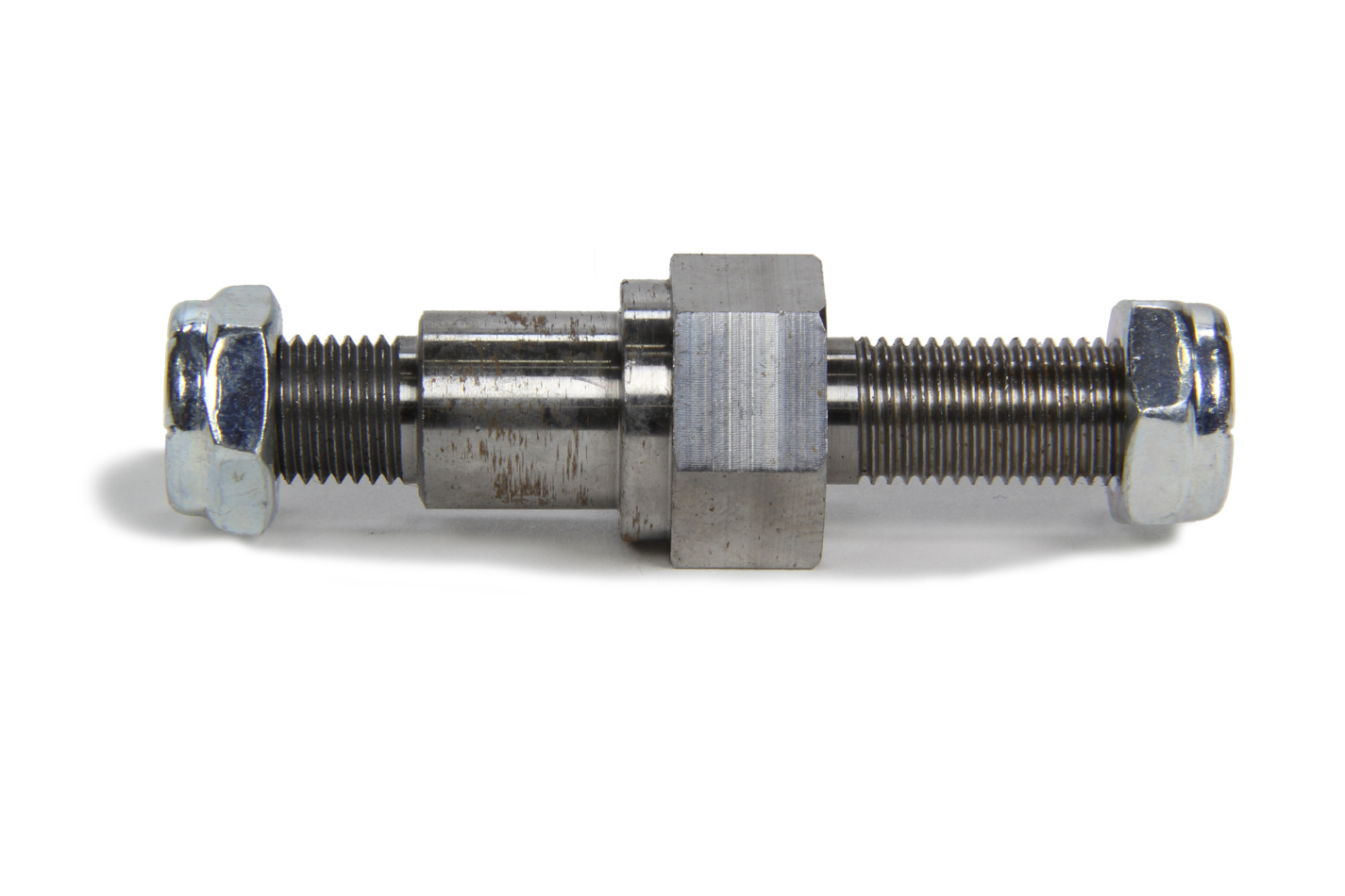 Ti22 Performance 3640 Shock Mount Stud, 3/8 in Thread, 2-1/2 in Long, Hex Nuts, Steel, Natural, Mini Sprint, Each