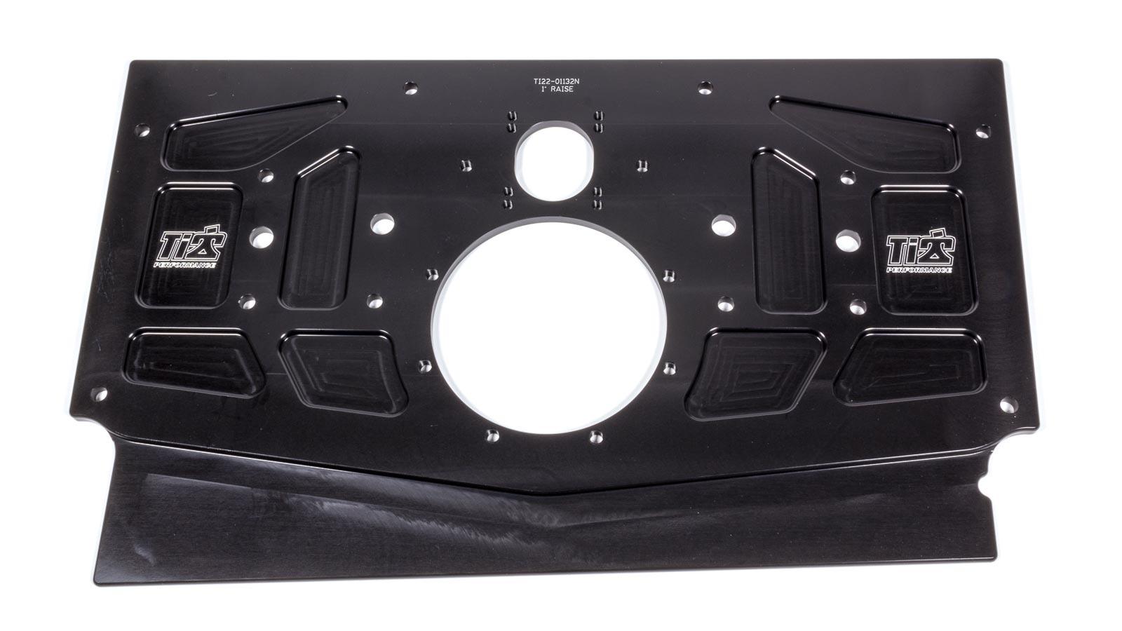 Ti22 Performance 5000 Motor Plate, Rear, 24-5/8 x 12-7/16 x 3/8 in, Aluminum, Black Anodize, Sprint Car, Each