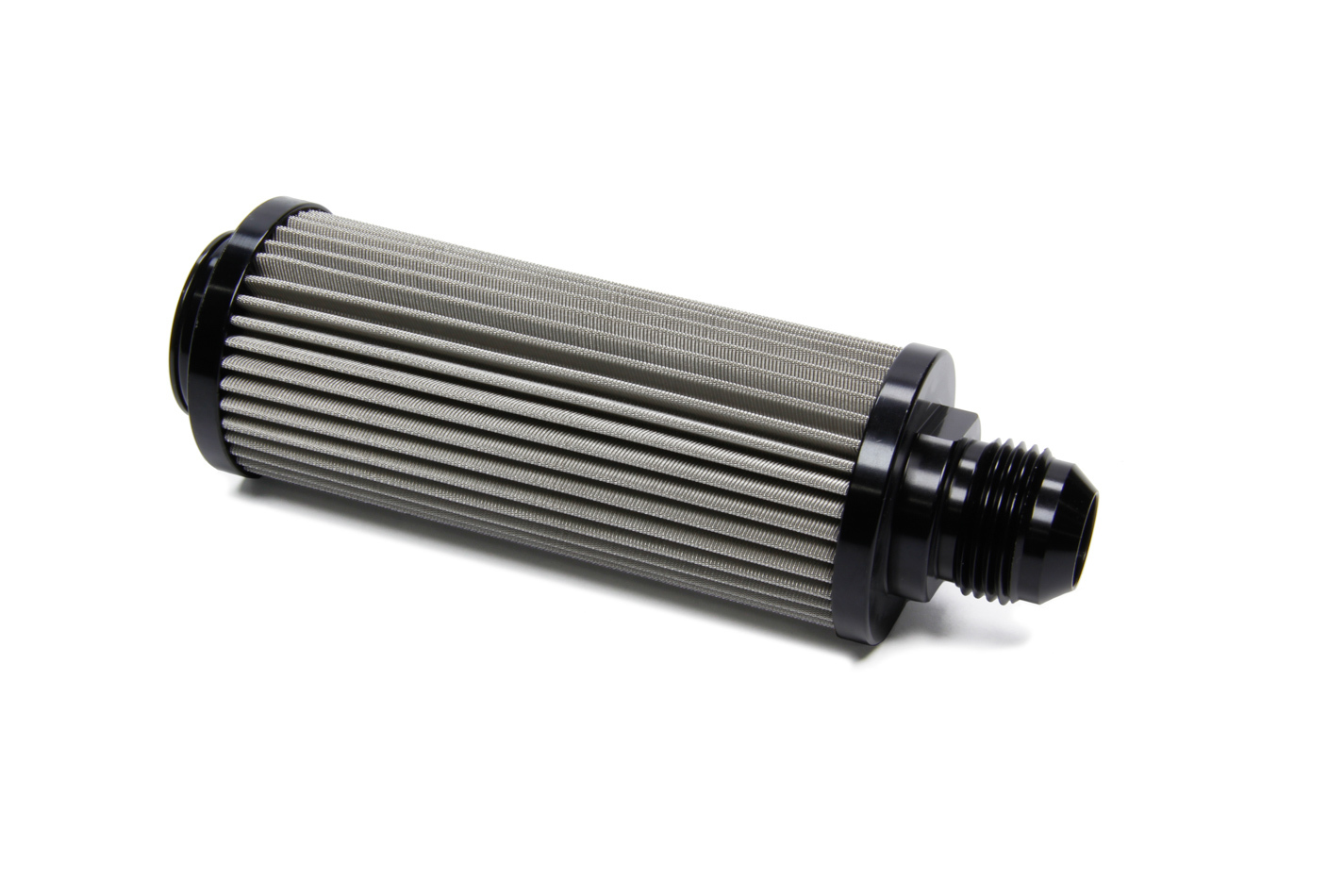 Ti22 Performance 5140 Fuel Filter, In-Tank, Straight, 60 Micron, Stainless Element, 12 AN, Aluminum, Black Anodize, Each