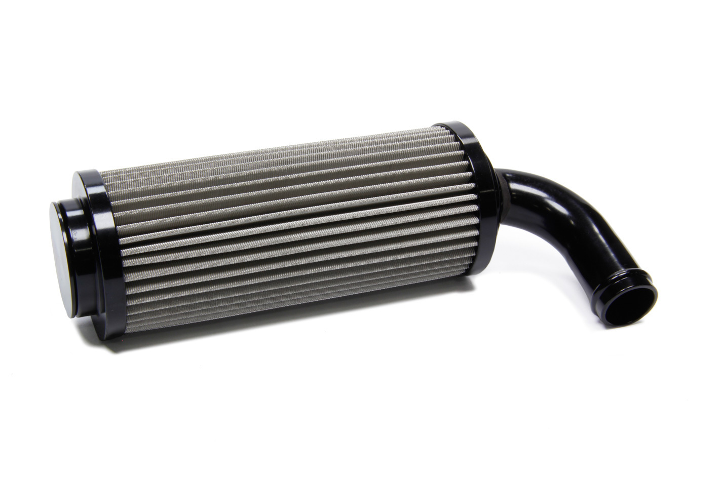Ti22 Performance 5142 Fuel Filter, In-Tank, 90 Degree, 60 Micron, Stainless Element, 3/4 in Hose Barb, Aluminum, Black Anodize, Each