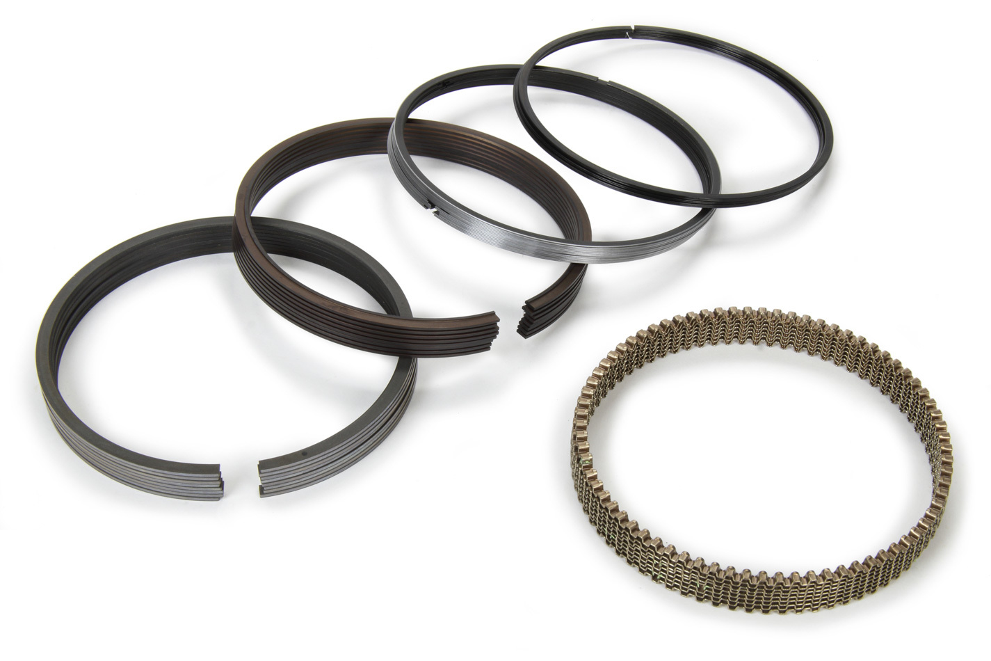 Total Seal CL2010-20 Piston Rings, Claimer, 4.020 in Bore, 1.5 x 1.5 x 3.0 mm Thick, Low Tension, Plasma Moly, 8 Cylinder, Kit